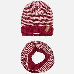 Mayoral Boys Red Hat & Snood Set 10480