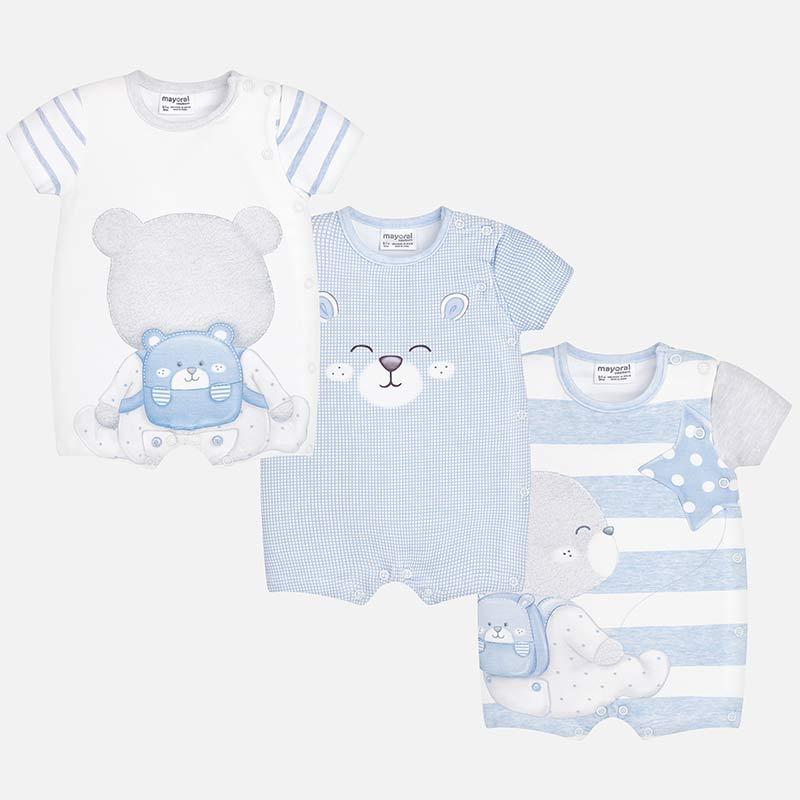 b37b2564c Mayoral 3 Piece Short Romper Set 1725 - Little Angels childrenswear