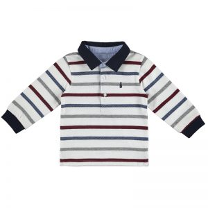 S//s Print Polo for Baby-Boys Mayoral White 1121