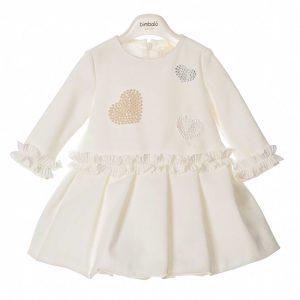 Bimbalò Cream Hearts Dress 4902