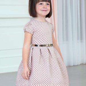 Abel & Lula Pink Dress 5531