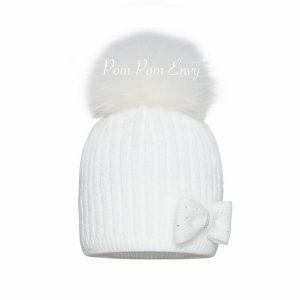 Pom Pom Envy – White – Twinkle Bow