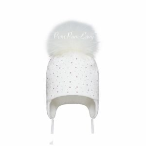 Pom Pom Envy – White – Mixed Bling