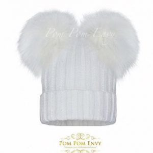 Pom Pom Envy – White – Double Bubble
