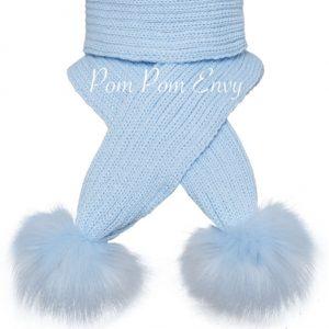Pom Pom Envy – Blue – Scarf