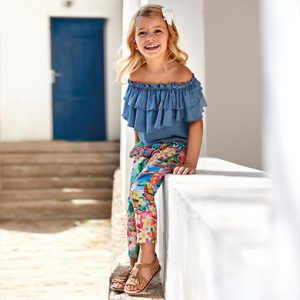 Mayoral Girls Print Trousers 3544