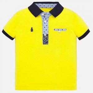 Mayoral Toddler Boys Yellow Polo 1146