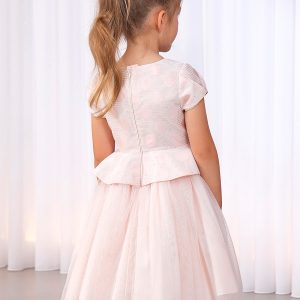 Abel & Lula Pink Polka Dot Dress