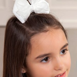 Abel & Lula White Double Organza Bow