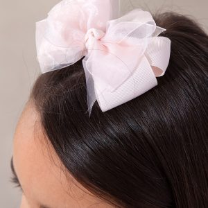 Abel & Lula Pink Double Organza Bow