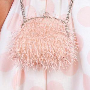 Abel & Lula Pink Fringe Bag