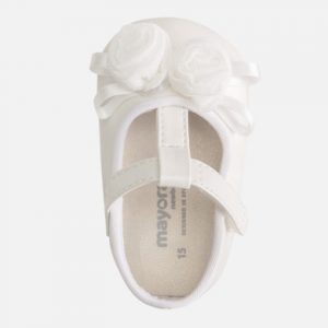 Mayoral White Baby Shoes 9285