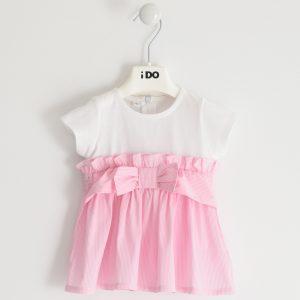 iDO Pink & White Dress J640