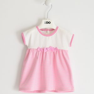 iDo Pink & White Dress J641