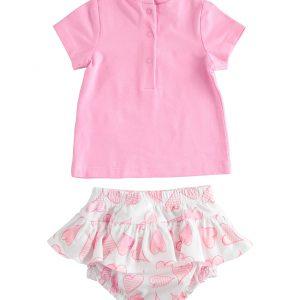 iDO Pink Short Sleeve Set J650