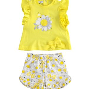 iDO Yellow Shorts Set J654