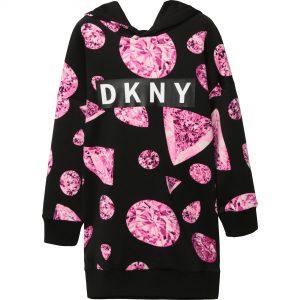 DKNY Black & Pink Dress D32768