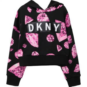 DKNY Girls Hooded Sweatshirt D35R02