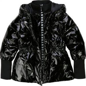 DKNY Girls Black Puffer Jacket D36627