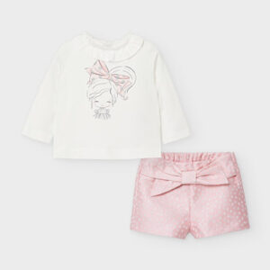 Mayoral Toddler Pink Shorts Set 2219