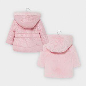 Mayoral Pink Reversible Fur Jacket 2412