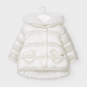 Mayoral Toddler Cream Coat 2414