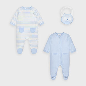 Mayoral Baby Boys Babygrow & Bib Set 2763