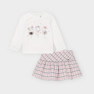Mayoral Pink Skirt Set 2972