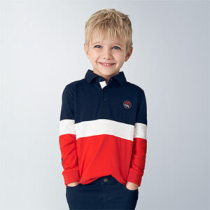 Mayoral Boys Red Polo Shirt 4129