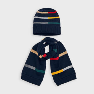 Mayoral Boys Stripe Hat Set 10894