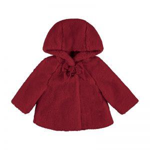 Mayoral Toddler Red Fur Coat 2408