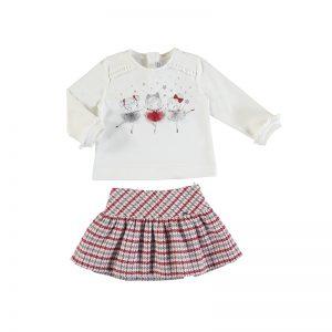 Mayoral Red Skirt Set 2972