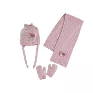Mayoral Pink Hat Set 10842
