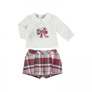 Mayoral Toddler Red Shorts Set 2220
