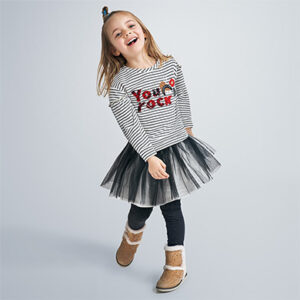 Mayoral Girls Black Skirt Set 4993