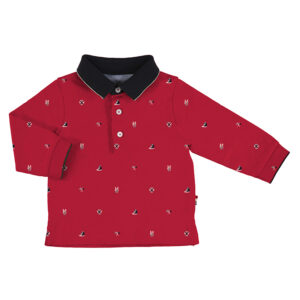 Mayoral Toddler Red Polo 2124