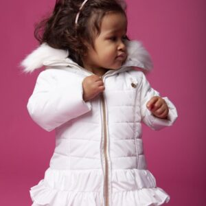 LE CHIC White Baby Coat