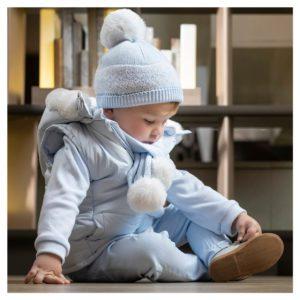 TUTTO PICCOLO Blue Hat & Scarf Set 9917