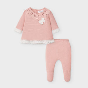Mayoral Baby Girls Pink Knitted Set 2549