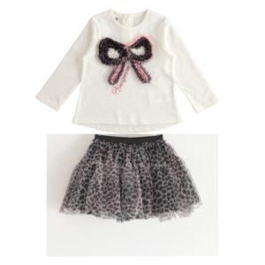 iDO Animal Print Skirt Set