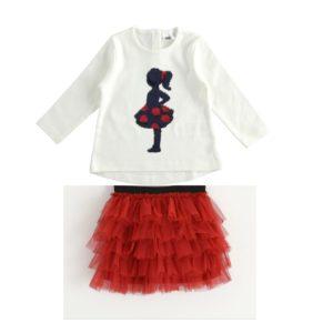 iDO Red Skirt Set