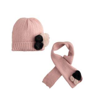 iDO Pink Hat & Scarf Set 1081