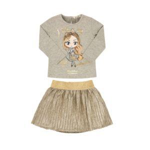 EMC Gold Skirt Set BX1740