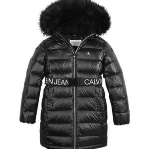 CALVIN KLEIN Black Down Coat 0596