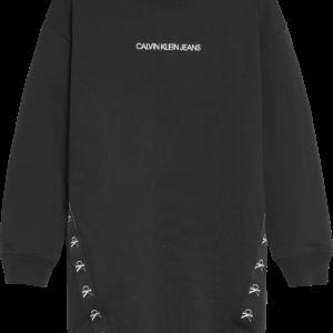 CALVIN KLEIN Black Sweatshirt Dress 0710