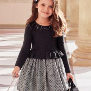 Abel & Lula Black Dress 5572