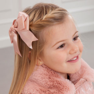 Abel & Lula Pink Double Bow Clip 5917