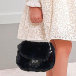 Abel & Lula Black Fur Bag 5933