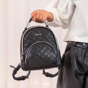 Abel & Lula Black Padded Backpack
