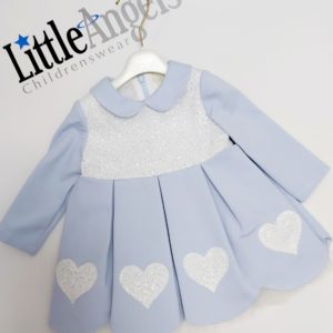 Bimbalò Blue Heart Sequin Dress